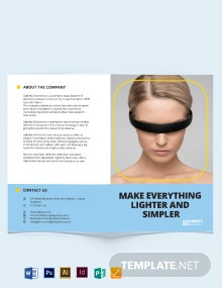 Electronic Product Bi-Fold Brochure Template