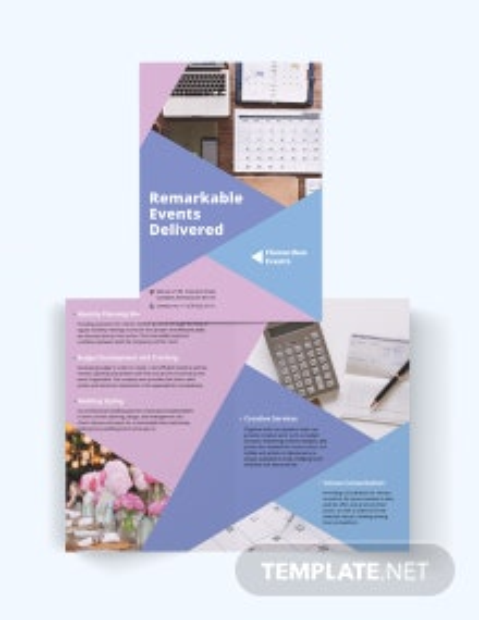 Event Planning Bi-Fold Brochure Template