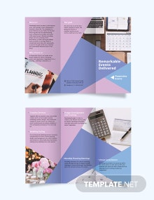 Event Planning Tri-Fold Brochure Template