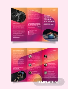 Fitness Trainer Tri-Fold Brochure Template