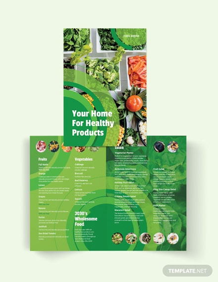 healthy food bi fold brochure