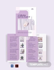 Jewelry Store Bi-Fold Brochure Template