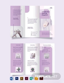 Jewelry Tri-Fold Brochure Template