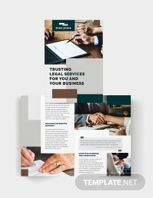 Legal Services Bi-Fold Brochure Template