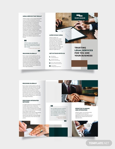 Legal Services Tri-Fold Brochure Template