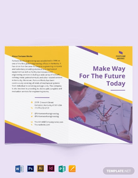Manufacturing Engineering Bi-Fold Brochure Template