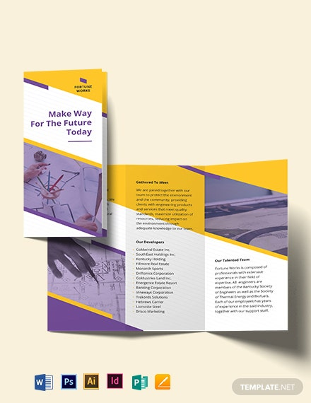 manufacturing engineering tri fold brochure