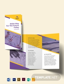 Manufacturing Engineering Tri-Fold Brochure Template