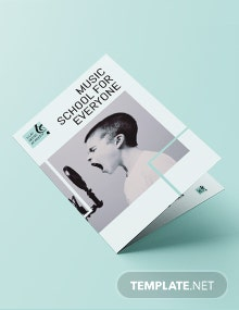 Music School Bi-Fold Brochure Template