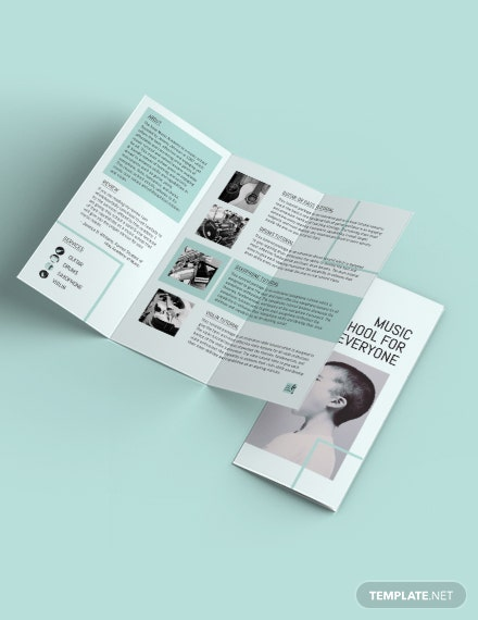 Music School Tri-Fold Brochure Template
