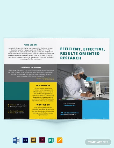 science bi fold brochure