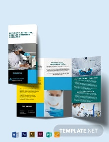Science Tri-Fold Brochure Template