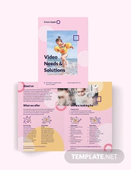 Video Bi-Fold Brochure Template
