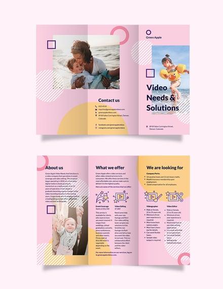 Video Tri-Fold Brochure Template