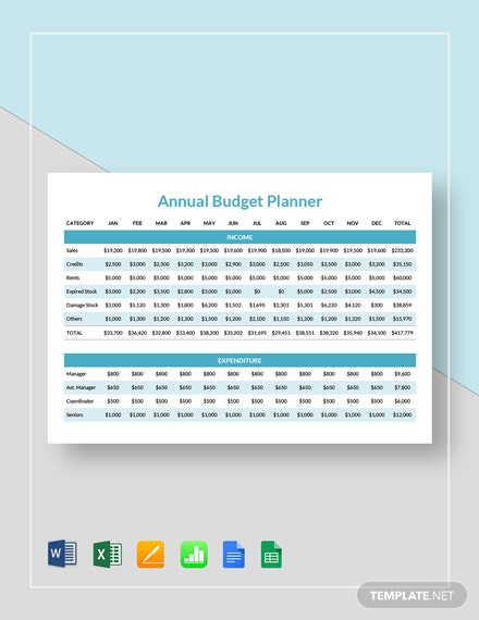 annual budget planner