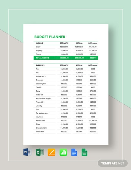 Budget Planner Template