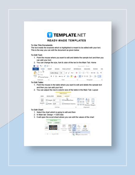 Budget Spreadsheet Instructions