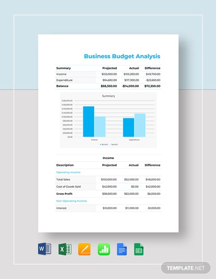 business budget analysis