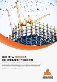 Free Construction Company Bi-Fold Brochure Template