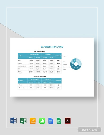 Expenses Tracking Template