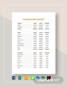Fundraising Budget Template