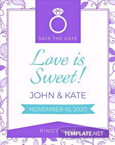 Free Save the Date Label Template