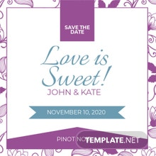 Save the Date Label Template