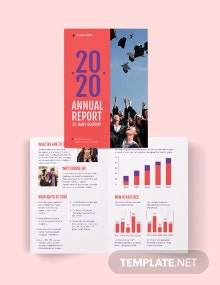 Modern Annual Report Bi-Fold Brochure Template