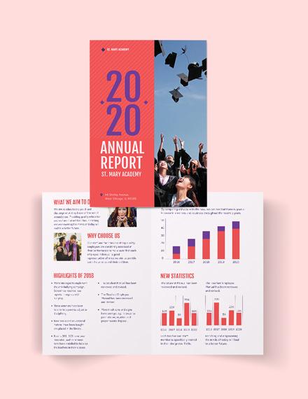 Modern Annual Report Bi-Fold Brochure Template
