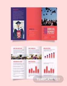 Modern Annual Report Tri-Fold Brochure Template