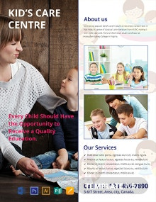 Free Kid's Care Advertising Flyer Template