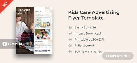 Free Kids Care Advertising Flyer Template
