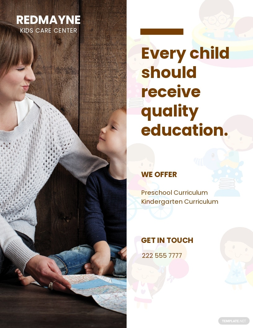 Kids Care Advertising Flyer Template.jpe