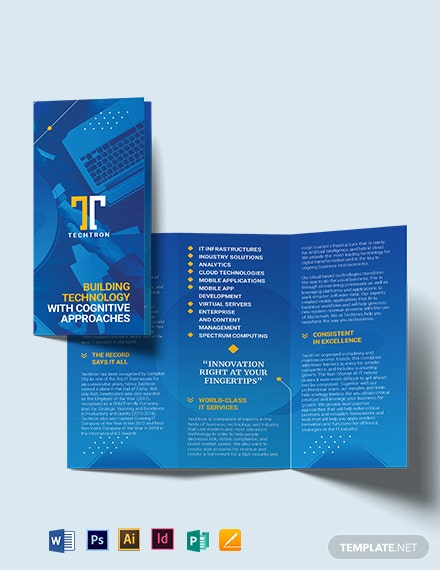 Simple IT Service Tri-Fold Brochure Template