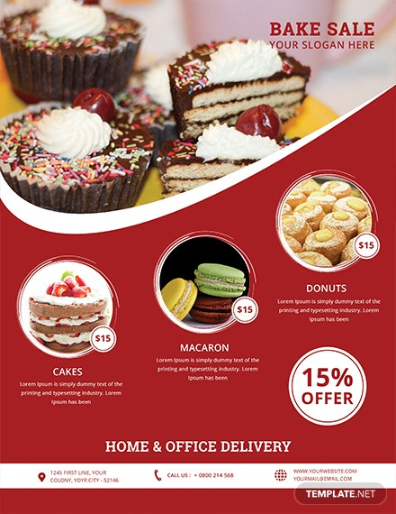 free printable bake sale flyer template download 416 flyers in psd