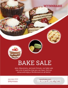 Free Printable Bake Sale Flyer Template