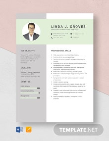 Assistant Purchasing Manager Resume Template