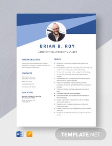 Assistant Relationship Manager Resume Template