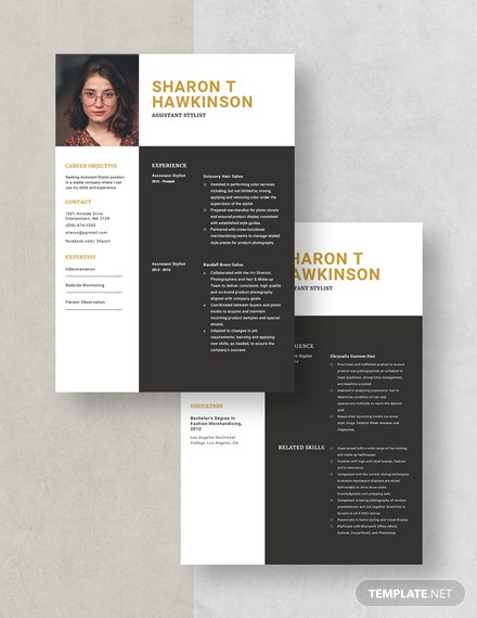 Assistant Stylist Resume Download