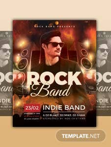 Free Rock Band Flyer Template