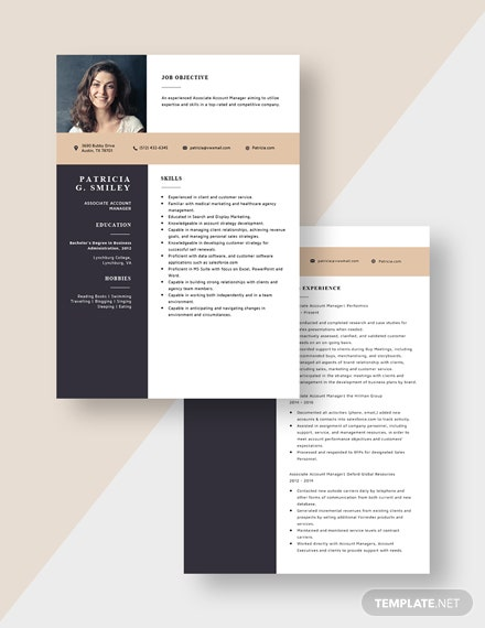 Associate Account Manager Resume Download