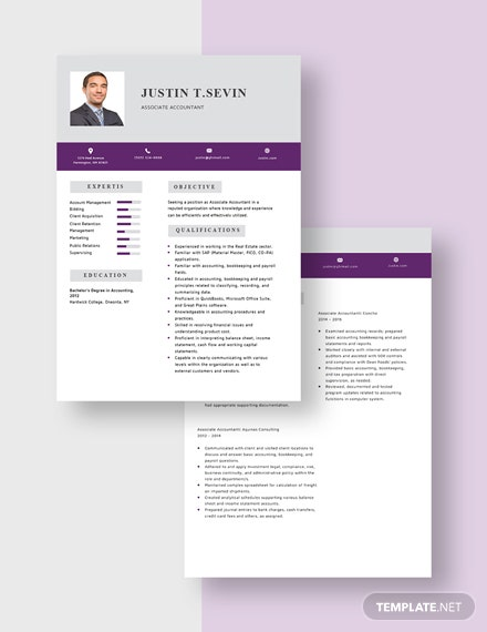 Associate Accountant Resume Download