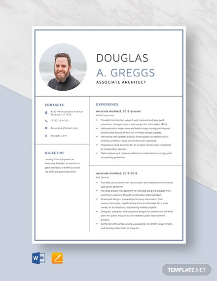 Associate Architect Resume Template