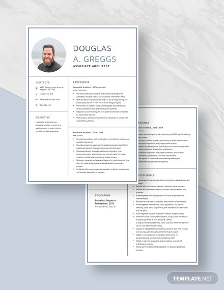 Associate Architect Resume Download