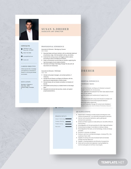 Associate Art Director Resume Download
