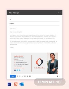 Free Company Assistant Email Signature Template