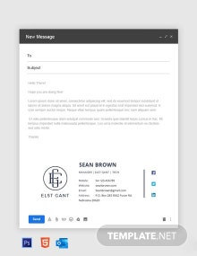 Company Manager Email Signature Template