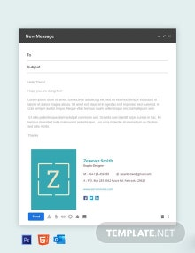 Free Creative Graphic Designer Email Signature Template