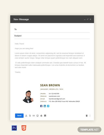 Free Manager Email Signature Template