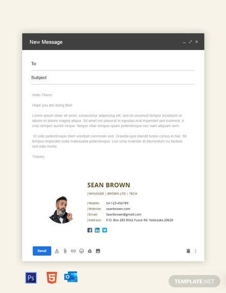 Manager Email Signature Template